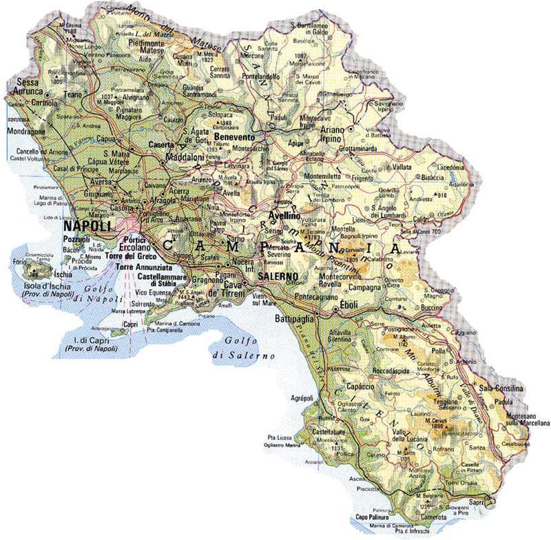 Cartina Campania Grande.Clima Le Configurazioni Nevose In Campania