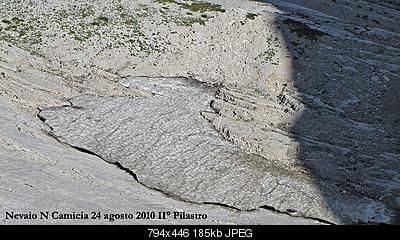 Situazione Nevai swettore Camicia Prena - Gran Sasso d'Italia - 12 agosto 2010-cam1.jpg