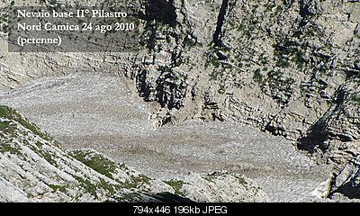 Situazione Nevai swettore Camicia Prena - Gran Sasso d'Italia - 12 agosto 2010-cam2.jpg