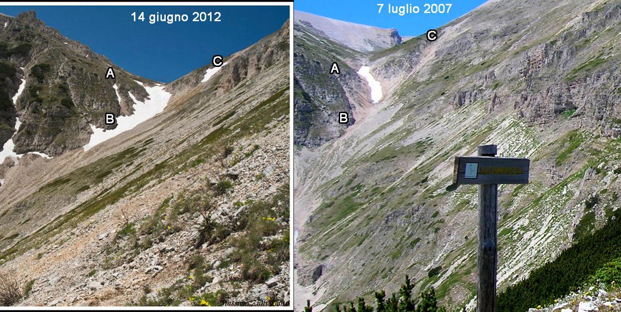 Nowcastin Nivoglaciae Majella, estate 2011-confronto-2007-2012bis.jpg
