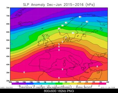 Previsioni Stagionali Inverno 2015-2016, la proiezione del nostro modello e le possibili due fasi-slp_anomaly_euro_dj_2016.png