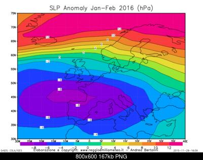 Previsioni Stagionali Inverno 2015-2016, la proiezione del nostro modello e le possibili due fasi-slp_anomaly_euro_jf_2016.png