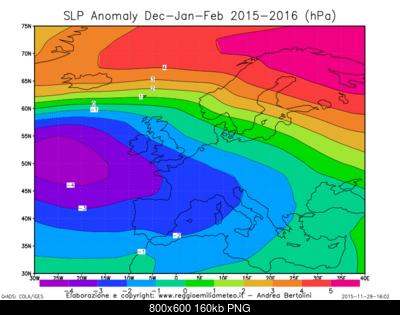 Previsioni Stagionali Inverno 2015-2016, la proiezione del nostro modello e le possibili due fasi-slp_anomaly_euro_df_2016.png