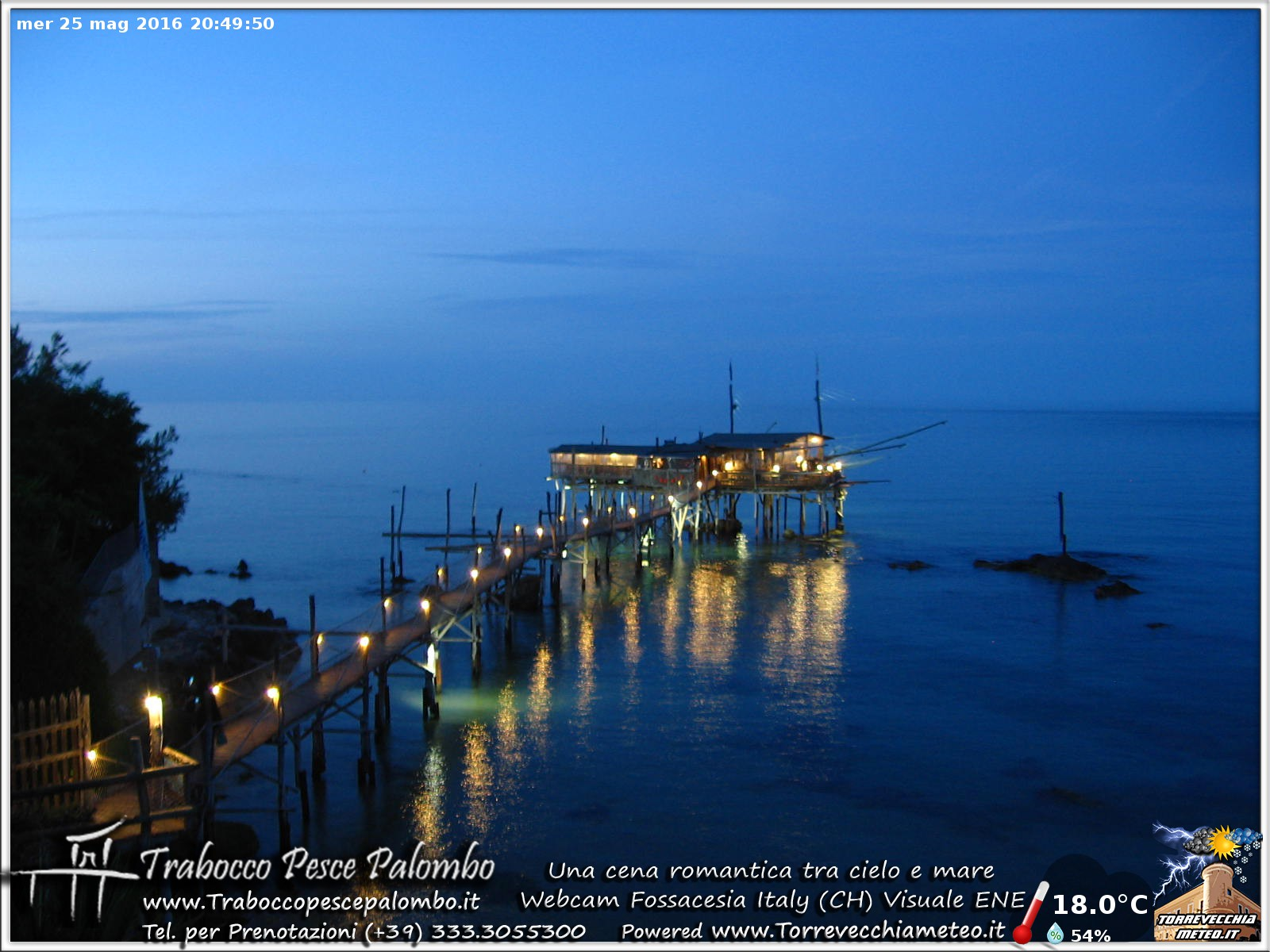 Nuova Webcam sul Trabocco Fossacesia - Costa dei Trabocchi --ore_20.50.jpg