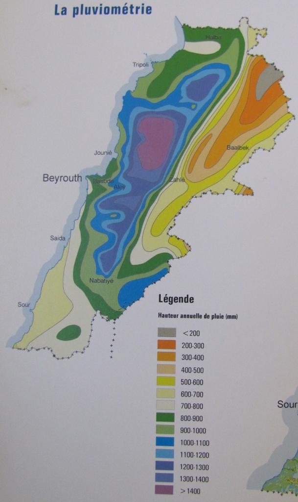 Catena del Libano - Situazione neve attraverso le stagioni-precip-libano-cnrs.jpg