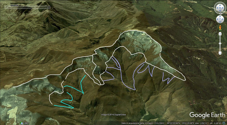 ghiacciai pleistocenici monte gottero e monti limitrofi-gottero-bacini-collettori.jpg
