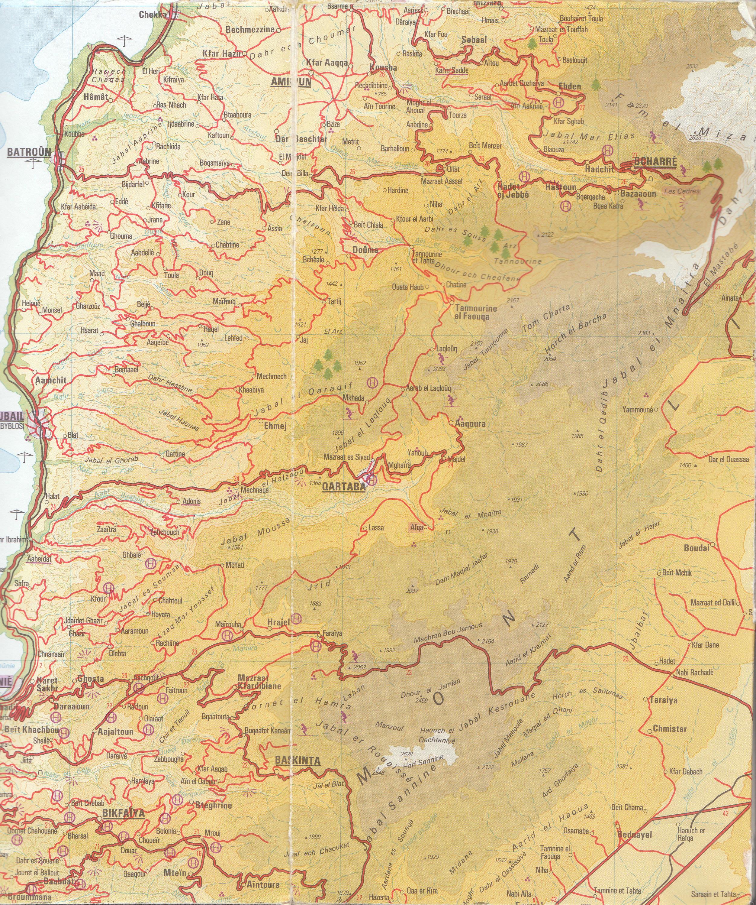 Catena del Libano - Situazione neve attraverso le stagioni-img-1.jpg