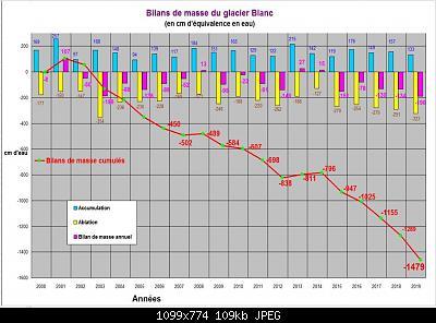 Bilancio di massa nei Ecrins-bilan-glacier-blanc-2019.jpg
