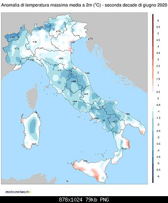 Luglio 2020: anomalie termiche e pluviometriche-tmax_anom_2020-06-2dec.jpg