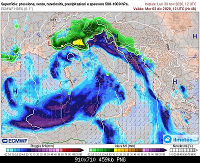Nowcasting Emilia - Basso Veneto - Bassa Lombardia, 16 Novembre - 30 Novembre-ecmwf_048.png
