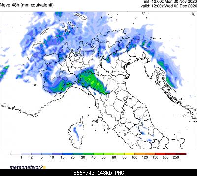 Nowcasting Emilia - Basso Veneto - Bassa Lombardia, 16 Novembre - 30 Novembre-wrf_nord_snowtot.png