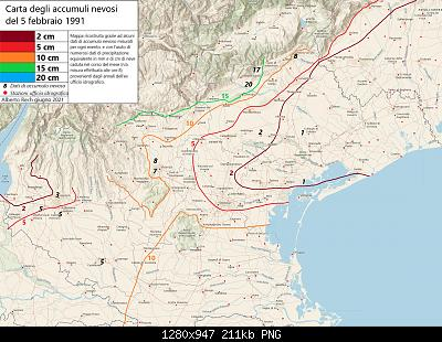 Carte nevicate febbraio 1991 Veneto-5-febbraio-1991.jpg