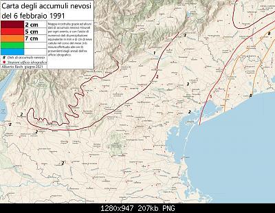 Carte nevicate febbraio 1991 Veneto-6-febbraio-1991.jpg